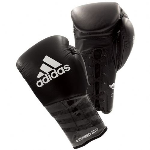 Adidas Adispeed Lace Boxing Gloves - Black/White